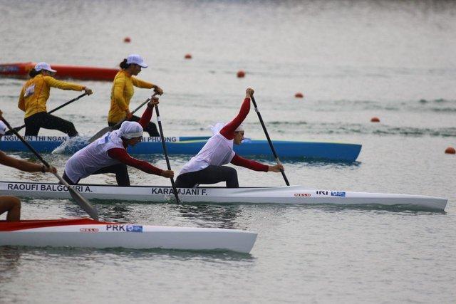 کانو دو نفره زنان ایران در بازی های آسیایی هفتم شد ، ششمی کایاک و چهارمی کانو دو نفره مردان