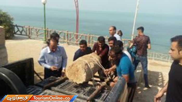 کشف لنگرِ سنگی کشتی دوره اسلامی در ساحل ریشهر
